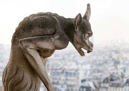Chimère sur Notre Dame de Paris