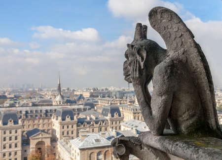 Chimera op de Notre Dame de Paris