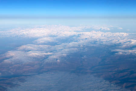 Mountains, view from airplane Standard-Bild