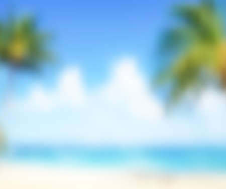 Abstract blurred summer beach background - Trendy business website template with copy space Reklamní fotografie - 48802721