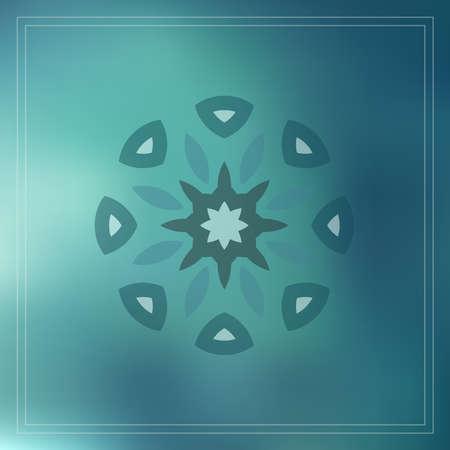 geometric design decorative elements on blur background