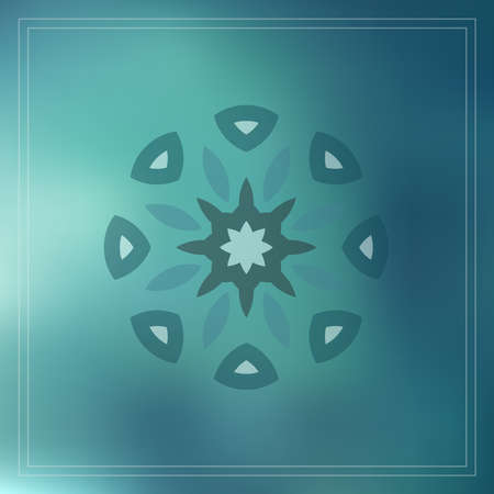 geometric design decorative elements on blur background