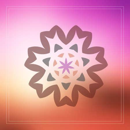 knotwork: geometric design decorative elements on blur background