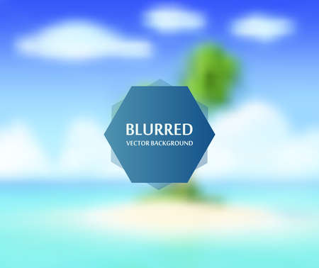 Summer sea abstract blur background for web design,colorful, blurred,texture, wallpaper,illustration Illustration