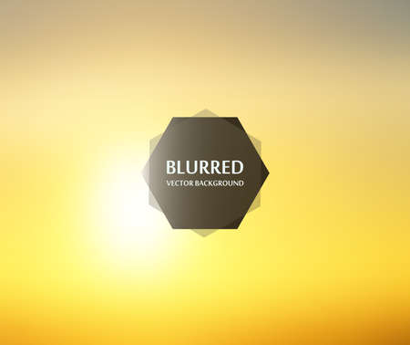 Blurred backgrounds vector. Blurred Sunset sky, sunrise landscape wallpaper