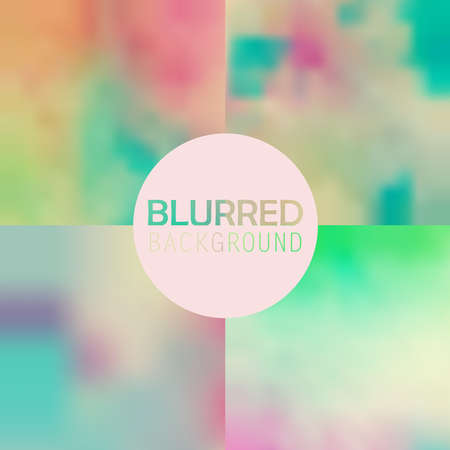 gently blue: soft blurred abstract background set collection in subtle flower colors