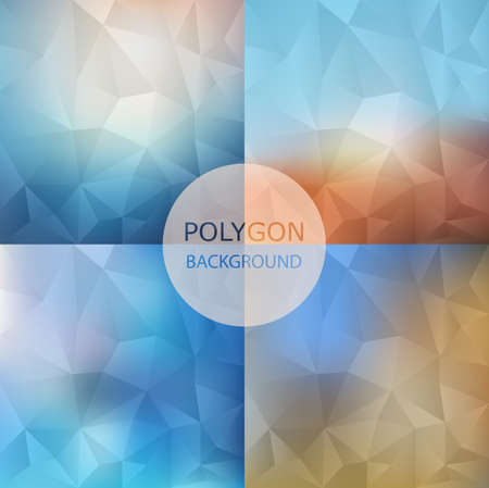 Set of abstract Geometric backgrounds.retro style
