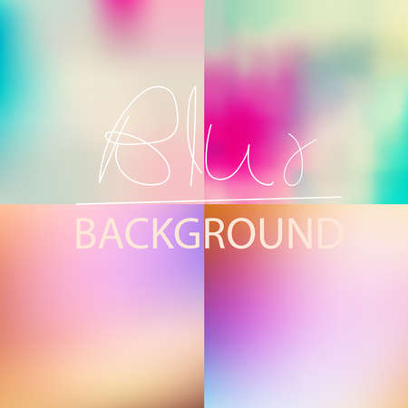 subtle: Set of  soft blurred abstract background set collection in subtle sunset sky colors Illustration