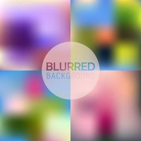 Set of  soft blurred abstract background set collection in subtle flower colors
