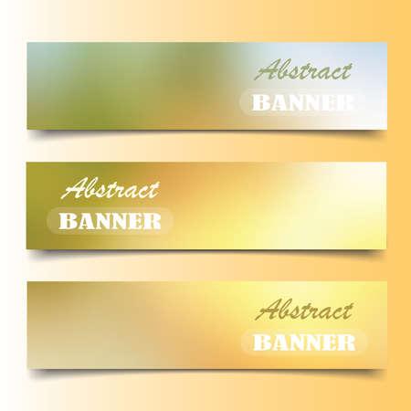 Blur color nature banner set  on gradient background.   イラスト・ベクター素材