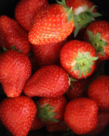 bunched: Strawberries bunched Stock Photo
