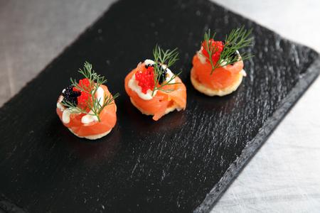 saumon fum�: Saumon fum� canape