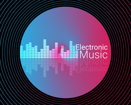 Abstract electronic music background illustration