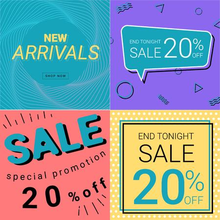 Sale Promotion And New Arrivals Banner Pastel Color for Business Illustration