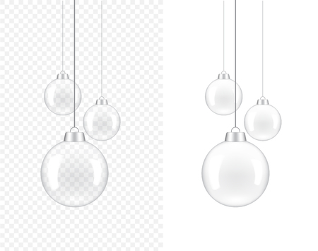 3D Realistic Transparent Lamp for interior decoration on white Background Illustration