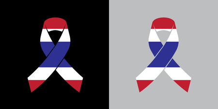 Mock up France Mourning symbol with French Flag Respect ribbon background Banner. Rest in Peace Funeral Vector Illustration.  Illustration