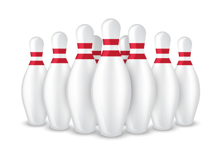 3D Realistic Bowling Pin Sport Isolated on White Background Illustration Illustration