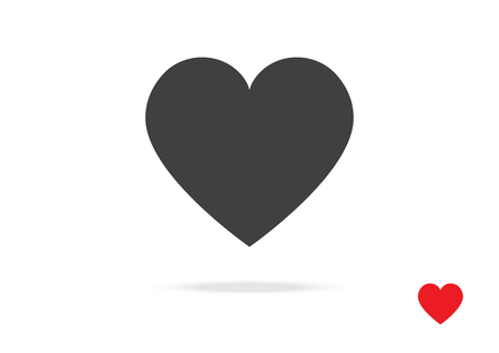 Heart Vector Icon Symbol Design for love Valentine Day Sign Greeting Card or Website on White isolated Background Illustration