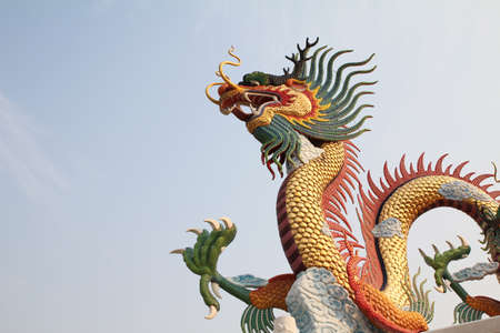 chinese buddha: dragon statue  Stock Photo