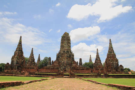 Pagoda in Chaiwattanaram temple at Ayutthaya Historical Park , Thailand  photo