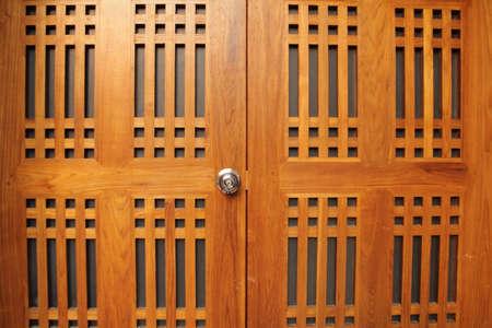 Double wooden doors photo
