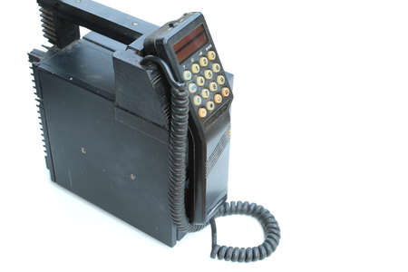 moveable: old style cellular mobile phone isolated on white background