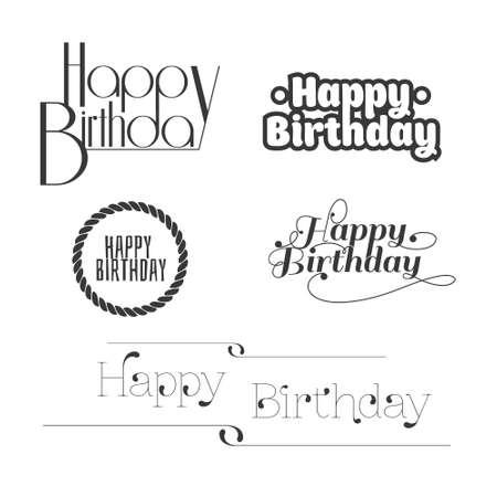 Set van Gelukkige Verjaardag