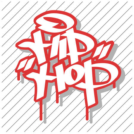 Hip hop. Colorful illustrations. Flat vector illustration. Illustration