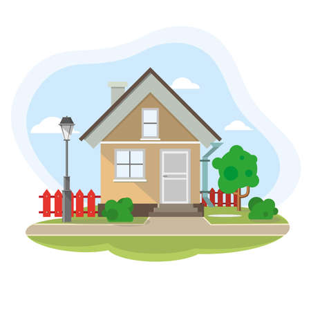 House Home for Real estate. Colorful illustrations.