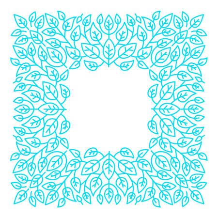 Linear frames, design template. Decorative background for greeting card in ornamental style. Illustration