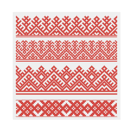 Vector seamless patterns ornament illustration. Ilustração