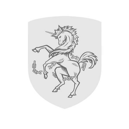 Vector image of heraldic unicorn