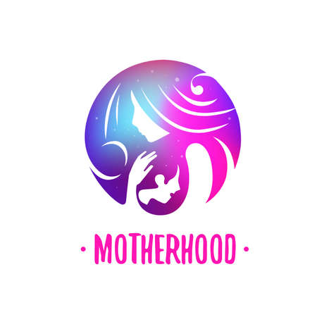 Motherhood icon Vector illustration. Illustration