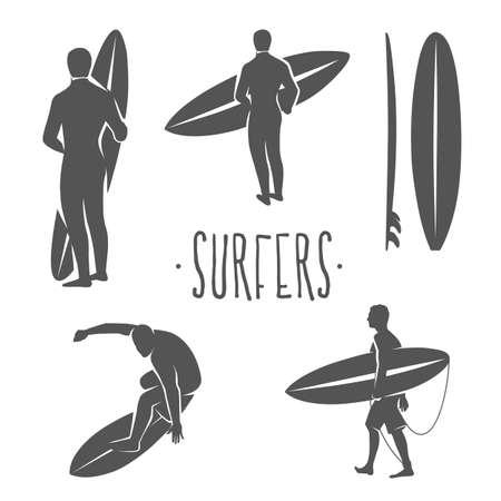 Surfing Logo. Reite die Welle. Surfreiter. Vektorillustration.
