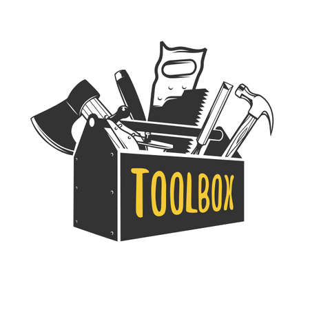 Toolbox. Logo templates. Vector illustration.  イラスト・ベクター素材