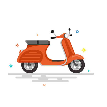Scooter motorcycle illustration. Flat vector illustration. Ilustrace