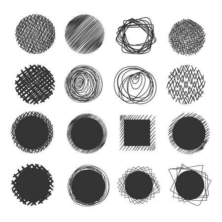 Hand made vector objects. Reklamní fotografie - 116487831