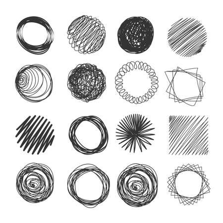 Hand made vector objects.