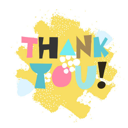 Thank you! Vector illustration. Lettering. Illustration