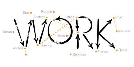 Work. Creative. Vector illustration. Illusztráció