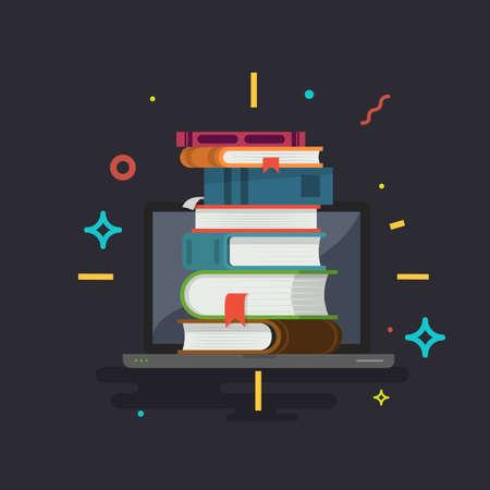 Knowledge. Online education. Vector illustration.