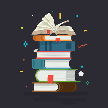 Books. Knowledge, learning and education. Vector illustration.