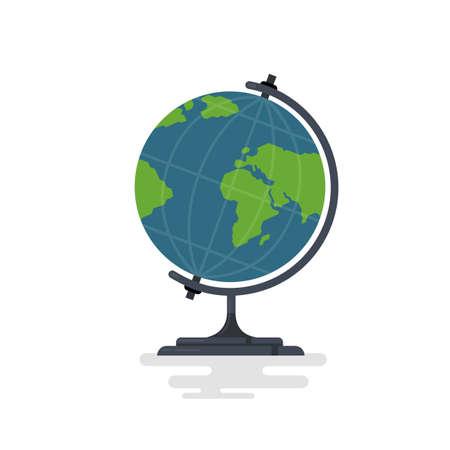 School globus icon. Flat illustration of school globus vector icon for web design
