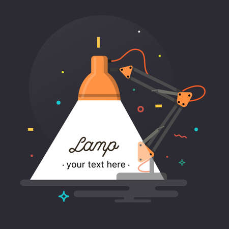 Table office lamp. Desktop electric. Vector illustration.
