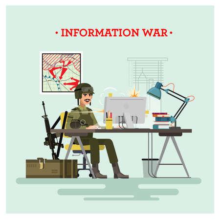Information war. Vector illustration.