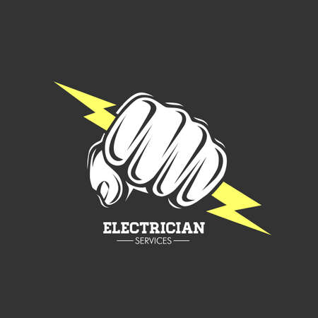 Color vector illustration. Electrician services