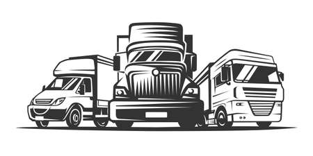 Truck , cargo, delivery. Logistic company logotype. Vector illustration. Illustration