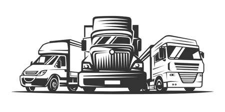Truck , cargo, delivery. Logistic company logotype. Vector illustration. Ilustracja