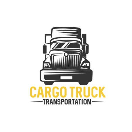 Truck , cargo, delivery, logistic. Vector illustration. Illustration