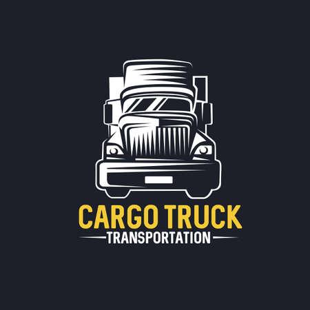Logo de camion, fret, livraison, logistique. Illustration vectorielle.